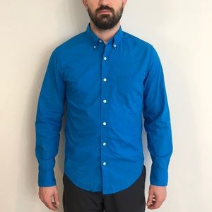 J. Crew Blue Button Up Slim Fit Size Medium